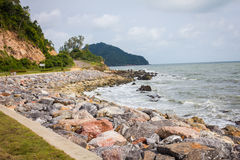 Coastal Road and Sea Stock Photo