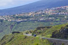 Coastal road in Tenerife, Canary islands Royalty Free Stock Image