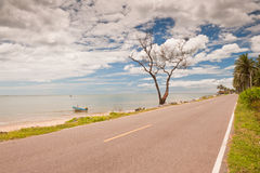 Coastal road in Thailand. Royalty Free Stock Photography