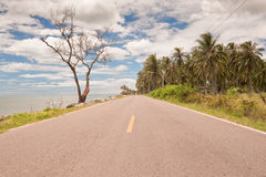 Coastal road in Thailand. Stock Image