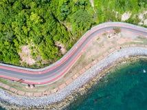 Coastal road to Nang Phaya Hill Royalty Free Stock Images