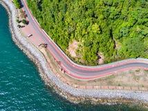Coastal road to Nang Phaya Hill Stock Photography