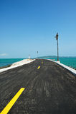 Coastal road to the sea Royalty Free Stock Photo