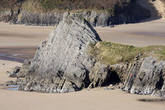 Coastal rock formation Royalty Free Stock Image