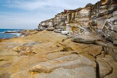 Coastal rock formations Royalty Free Stock Images