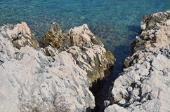 Coastal rock landscape in Croatia Royalty Free Stock Images
