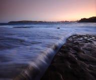 Coastal Rock Ledge. Rock shelf at Freshwater Beach Sydney Royalty Free Stock Images