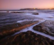 Coastal Rock Ledge. Rock shelf at Freshwater Beach Sydney Royalty Free Stock Photography