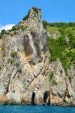 Coastal rocks of Capri island Royalty Free Stock Photography