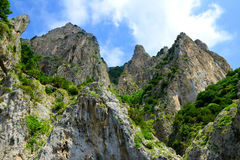 Coastal rocks of Capri island Royalty Free Stock Photo