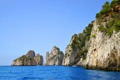Coastal rocks of Capri island Stock Image