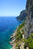 Coastal rocks of Capri island Stock Photos