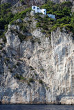 Coastal rocks of Capri island, Mediterranean Sea, Italy Stock Photos