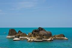 Coastal rocks koh samui thailand Royalty Free Stock Image