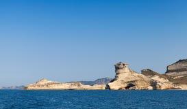 Coastal rocks near Bonifacio, Corsica Royalty Free Stock Photo
