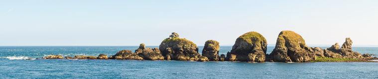 Coastal rocks near the Sark Island, Guernsey royalty free stock image