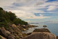 Coastal rocks on sea Stock Photos