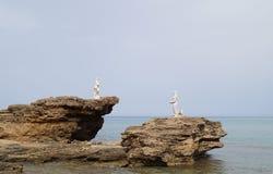 Coastal rocks at the sea Royalty Free Stock Photos