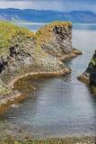 Coastal rocks on Snaefellsnes peninsula, Iceland. Royalty Free Stock Photo