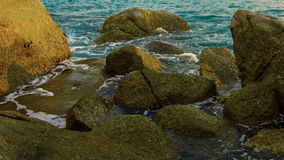 Coastal rocks. Thailand, tropical sea Royalty Free Stock Photos