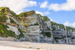 Coastal Rocky Wall in Normandy Stock Photos