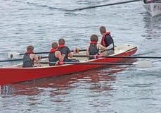 Coastal Rowing Ireland Carnlough Antrim Northern Ireland. Coastal Rowing Ireland Carnlough Co Antrim Northern Ireland royalty free stock photo