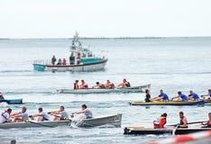 Coastal Rowing Ireland Carnlough Co Antrim Northern Ireland. Coastal Rowing Ireland Carnlough Antrim Northern Ireland stock photo