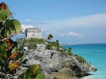 Coastal Ruin. Mayan ruin along Mexican coast Stock Photos