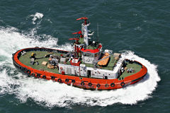 Coastal safety, salvage and rescue boat. At high speed Stock Photos