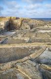 Coastal Salt Pans. Marsaskala, Malta Stock Image