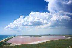 Coastal salty lake Koyashskoye Royalty Free Stock Photos
