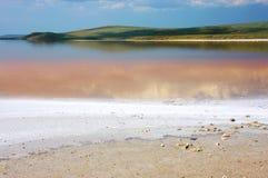 Coastal salty lake Koyashskoye Stock Images