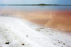 Coastal salty lake Koyashskoye Royalty Free Stock Photo
