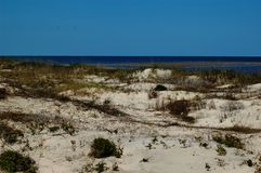 Coastal sand dunes Royalty Free Stock Photo