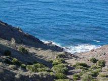 View at Cabo del Gata. Coastal scene at Cabo del Gata in Almeria province, Spain Royalty Free Stock Photography