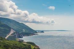 Coastal Scene on the Cabot Trail. (Cape Breton, Nova Scotia, Canada Stock Images
