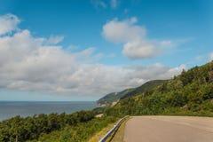 Coastal Scene on the Cabot Trail. (Cape Breton, Nova Scotia, Canada Royalty Free Stock Photo
