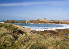 Coastal scene on guernsey, Stock Image