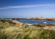 Coastal scene on guernsey,  Channel Islands Royalty Free Stock Images