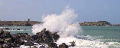 Coastal scene on guernsey royalty free stock photography