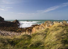 Coastal scene on guernsey, Stock Photo
