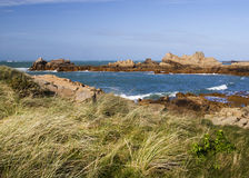 Coastal scene on guernsey, Channel Islands stock image