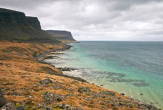 Coastal scene in Iceland Royalty Free Stock Images
