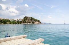 Coastal scene from Parga Stock Images