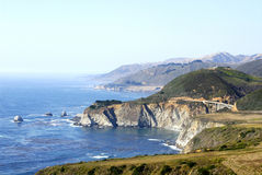 Coastal Scenery. Pacific coastal scenery at Big Sur in California stock photo