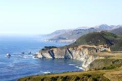 Coastal Scenery. Pacific coastal scenery at Big Sur in California Stock Photo