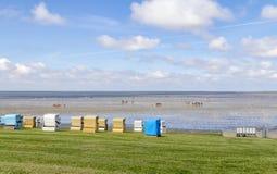 Coastal scenery around Buesum. In Dithmarschen at Schleswig-Holstein, Germany stock images