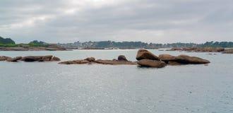 Coastal scenery around the Seven Islands Stock Images