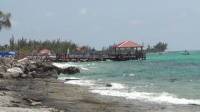 Coastal scenery from the Bahamas stock video