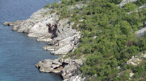 Coastal scenery in Croatia Royalty Free Stock Images